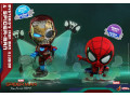 Hot Toys - Spider-Man Far From Home - Mysterio's Iron Man Illusion and Spider-Man Cosbaby (S) Bobble-Head Collectible Set