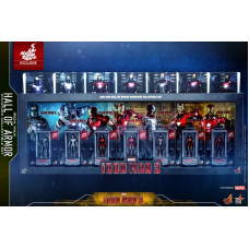 Hot Toys - MMSC005 - MMSC012 - Iron Man 3 - Iron Man Hall of Armor Miniature