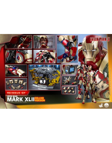 Hot Toys - QS008 - Iron Man 3 - 1/4th scale Mark XLII Collectible Figure (Deluxe Version) [Reissue]