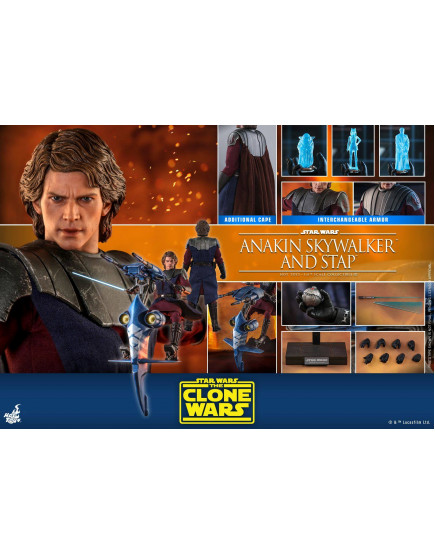 Hot Toys - TMS020 - Star Wars: The Clone Wars - 1/6th scale Anakin Skywalker and STAP Collectible Set