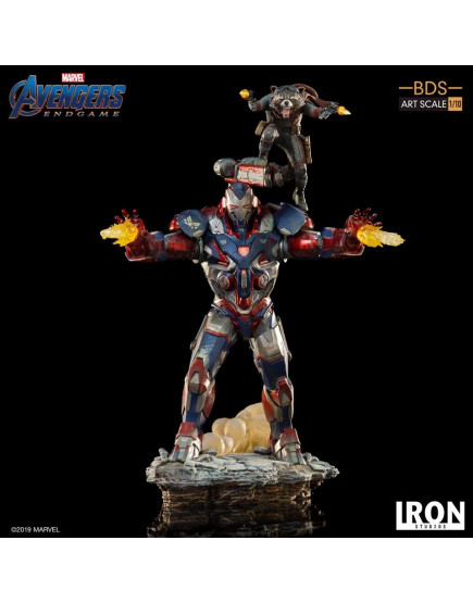 Iron Studios 1/10 BDS Art Scale - Avengers : Endgame - Iron Patriot & Rocket